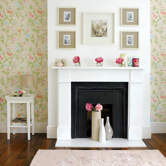 How to Wallpaper around Fireplaces